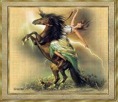 Sonhos e poesia: Cavalgando o arco íris