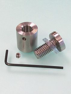 """3/4"""" Dia. THROUGH STAINLESS STEEL STANDOFF - LOCKING. Brushed Stainless"""