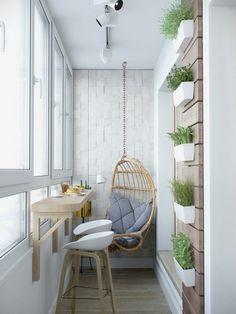 68m2-es lakás lakberendezése egy fiatal párnak - áttervezett elosztás, könnyed, világos, otthonos dekoráció skandináv stílusban ERKÉLY
