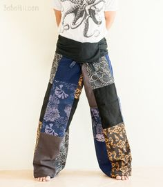 Extra Long Unique Patchwork Thai Fisherman Pants (Multicolor SOX4)