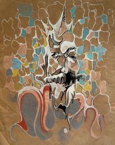 King #pastels #acrylic #pens #artforsale #tybur