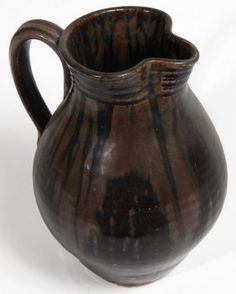 Southern Folk Pottery-Kim Ellington-Pitcher, 9 1/2""
