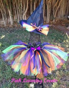 Little Witch Baby .. Toddler ...Child ... Tutu Outfit includes Tutu, and Witches Hat Extra Full Tutu by PinkLaundryEvts on Etsy