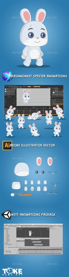 The Rabbit – Boy — Vector EPS #spriter #unity • Available here → https://graphicriver.net/item/the-rabbit-boy/18178432?ref=pxcr