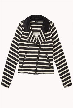 Striped Moto Jacket (Kids)   FOREVER21 girls - 2000092990