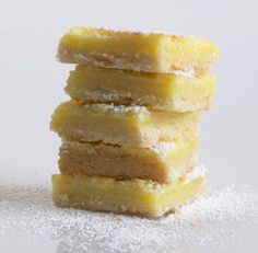 Lemon Shortbread Bars  these come out perfect.  By Nicole Rees from Fine Cooking mag  www.yournestdesign.blogspot.com