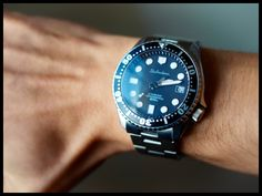 Seiko SKX007 PMMM Mod Super Oyster 2 - MM/samurai hands from Yobokies, superdome and sloped bezel insert from Dagaz