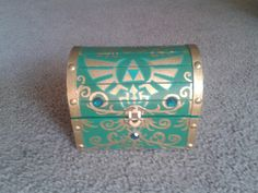 Green Zelda chest by LegendaryTreasures on Etsy, $35.00