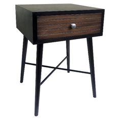 Threshold™ Accent Table with Ribbed Drawer - Espresso #Thresholdtrade