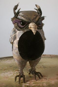 A dastardly owl from the fortuny collection by the fabulous Ann Wood