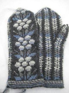 Kainuun lapaset - mittens from Kainuu Mittens Pattern, Knit Mittens, Knitted Gloves, Knitting Socks, Knit Socks, Palestinian Embroidery, Knitting Projects, Knitting Ideas, Knitwear