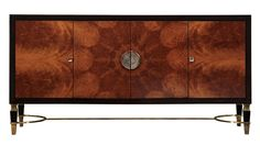 """The pieces consist of exotic woods, including mahogany, lemanja, and walnut burl; and textures that include leather and chrome. """"This line is intended to demonstrate that Dorya's specialty is still the ability to make outstanding handcrafted furniture, so the wood choice and details are very important,"""" Perry added.  http://www.doryainteriors.com/"""