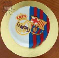 Real Madrid - Fc Barcelona cake  #MadridBarça #elclasico #derbi #futbol #HalaMadrid