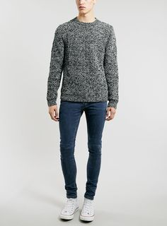 Topman skinny jeans and marled sweater