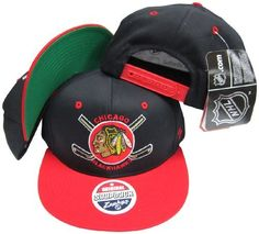 Chicago Blackhawks Black / Red Two Tone Plastic Snapback Adjustable Plastic Snap Back Hat / Cap by Zephyr. $34.99. Make a fashion statement while wearing this retro snapback cap.