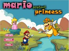 Play game Mario Defend Princess Flash free online games - Faxo