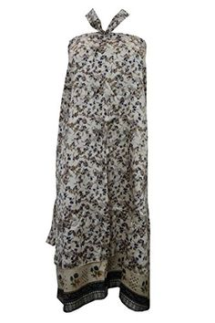 Mogul Wrap Skirt Beige Floral Vintage Silk Sari Magic Skirts Sarong Dress Mogul Interior http://www.amazon.com/dp/B016DHZM6U/ref=cm_sw_r_pi_dp_IalGwb1BMME8A