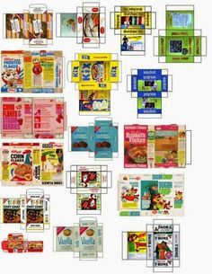 Herbie's Collection of Printable Minis & Scaleable Images For Dolls Houses: Miscellanious Groceries 1