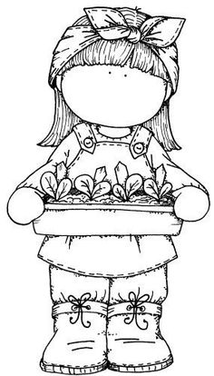 This would be my avatar if I had one. She is so cute and doing what I love: gardening