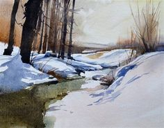 """Winter Landscape"" - Original Fine Art for Sale - © David Morris"