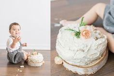 This healthy smash cake is cake with ingredients you know your baby's used to eating and will enjoy with their first really sweet thing