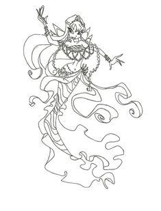 Winx Club Mermaid Bloom Coloring Page By Winxmagic237 Deviantart