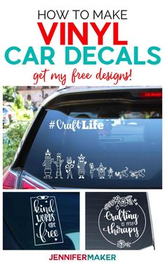 Vinyl Car Decals - Quick and Easy to Make Your Own!