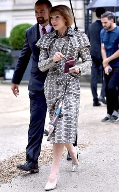 Anna Wintour from Paris Haute Couture Fashion Week 2014: Star Sightings  The queen on high fashion herself arrives at the Valentino show wearing a cutting edge coat.