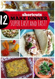 Need a little help getting dinner on the table? Try these 12 Simple Shortcuts to Get Dinner on The Table Fast -- from ThePeacefulMom.com