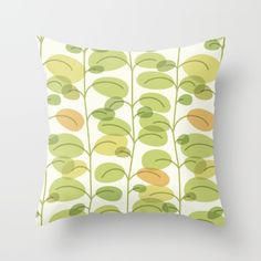 Green Soul Throw Pillow