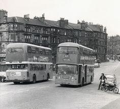 Mount Annan Drive at Carmunnock Road - July 1973 Mount Annan, The Second City, Glasgow Scotland, Bus Station, Buses, Old Photos, Memories, Anthropology, Flourish