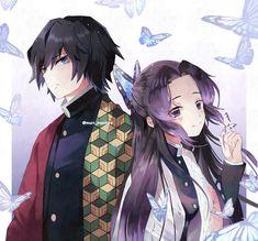 Tomioka Giyyu and shinobu😄 Tag Your Friends and Like 😍 share📩 for Otaku Anime, Manga Anime, Anime Art, Demon Slayer, Slayer Anime, Anime Angel, Anime Demon, Read Anime, Anime Family