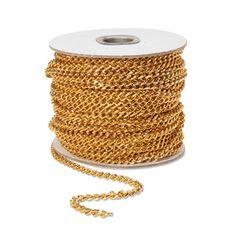 Chain-Diamond Cut Gold-5mm