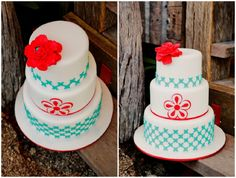 Mexican wedding cake by Sunny Girl Cakes.    Mexican Wedding Fiesta Colourful Styling | The Bride's Tree - Sunshine Coast Wedding