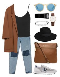 Untitled #315 by cigerett on Polyvore featuring polyvore, fashion, style, Topshop, Zara, New Balance, MICHAEL Michael Kors, Daniel Wellington, Cartier, By Malene Birger, Illesteva and Givenchy