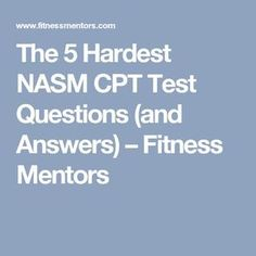 Let us help you by explaining the top 5 hardest questions from the NASM CPT Exam. Fitness Tips, Fitness Motivation, Coaching, Strength And Conditioning Coach, Hard Questions, Question And Answer, Yoga Teacher, Software Development, Personal Trainer