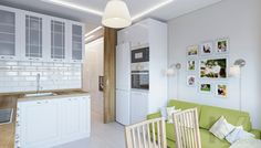 Дизайн кухни в 2-комнатной квартире П-44Т, Московский - 3
