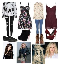 The Girls First Set by thehellcats on Polyvore featuring polyvore fashion style Topshop Michael Antonio Vans clothing