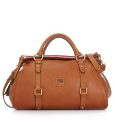 4541c7f42e4a Dooney   Bourke Florentine Vaccheta Pebble Leather Satchel - Brown Hermes  Handbags