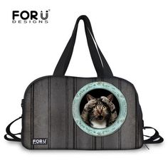 5634ee49012f FORUDESIGNS Large Capacity Travel Bags 3D Animal Image