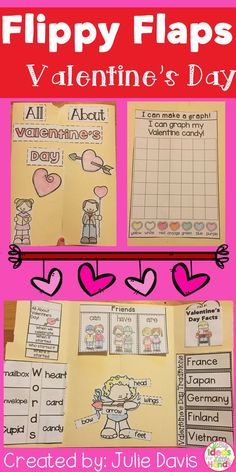 Valentine's Day Flippy Flaps!  This is a great way to get your students learning about Valentine's Day and friends in a fun hands-on interactive way! Your students will be engaged and learn about Valentine's Day and friendships in many different ways!  Ac