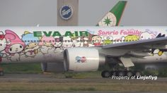 Hello Kitty Jet  B777-300ER airborne! EVA AIR B-16703 @TPE-with ATC
