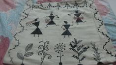 A bag with Warli painting