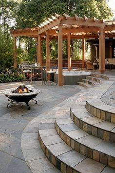 Hot Tub Pergola by All Oregon Landscaping,