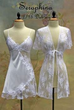 Arriving soon at A Beautiful Touch is the most exquisite collection of short and long Bridal peignoir sets for the upcoming Spring 2010 sea - Lingerie - Ideas of Lingerie Jolie Lingerie, Lingerie Outfits, Pretty Lingerie, Beautiful Lingerie, Lingerie Sleepwear, Sexy Lingerie, Bridal Nightwear, Lingerie Dress, Luxury Lingerie