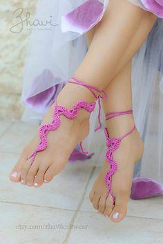Украшение для ног для девочек и женщин от ZHAVIknitwear на Etsy, $16.00
