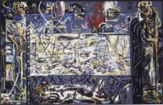 Jackson Pollock, 'Guardians of the Secret' (1943) My favorite painting in my collection.