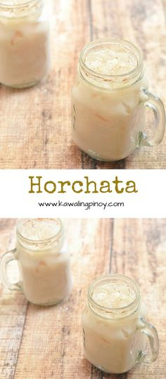 Made with ground rice, sweetened milk and cinnamon, Horchata is a type of Mexican agua fresca that's refreshing as it is delicious. Refreshing Drinks, Summer Drinks, Fun Drinks, Cold Drinks, Healthy Drinks, Holiday Drinks, Mexican Drinks, Mexican Dishes, Mexican Food Recipes