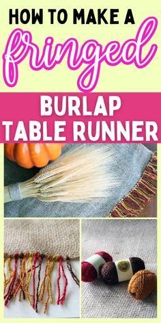 DIY table runner. How to make a table runner. Thanksgiving table runner.