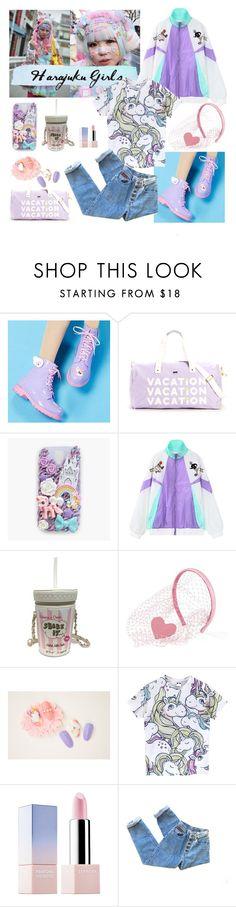 """Harajuku Girl"" by lovaconsultancy on Polyvore featuring mode, DripDrop, ban.do, cutekawaii, Chicnova Fashion, Betsey Johnson, RED Valentino, Sephora Collection, tokyo et Packandgo"